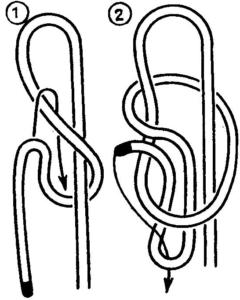 Развязывающийся простой бегущий узел
