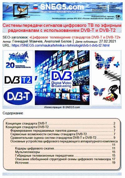 Цифровое телевидение стандартов DVB-T и DVB-T2_скрин