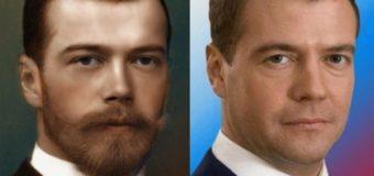 Реинкарнация? Почему Дмитрий Медведев очень похож на Николая Второго