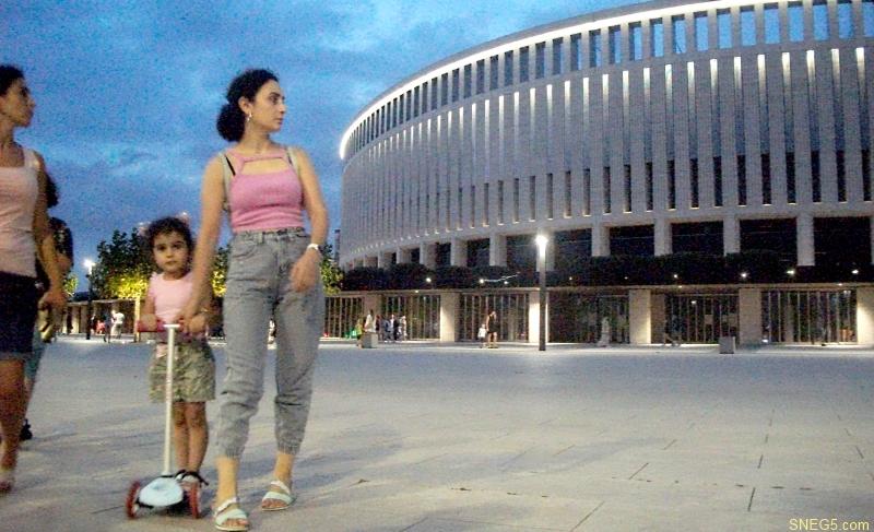 Стадион «Краснодар» вечером