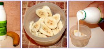 Банановое мороженое на кефире