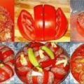 Запеченные помидоры с фаршем