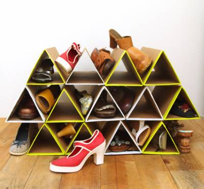 картонный шкаф для обуви