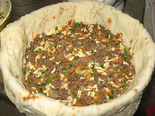Быстрый пирог из тонкого лаваша