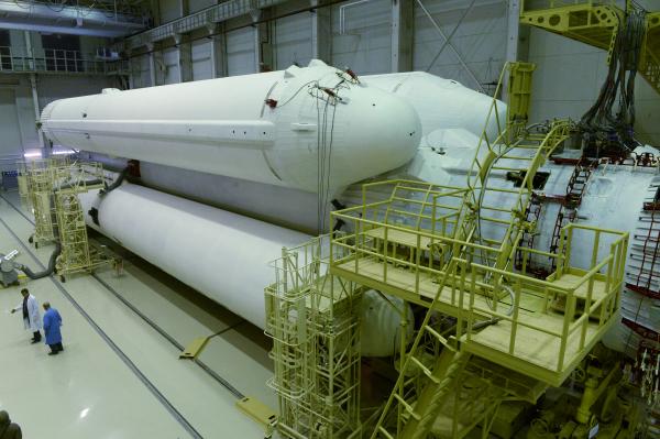 Первая ступень «Ангары» состоит из одинаковых универсальных ракетных модулей