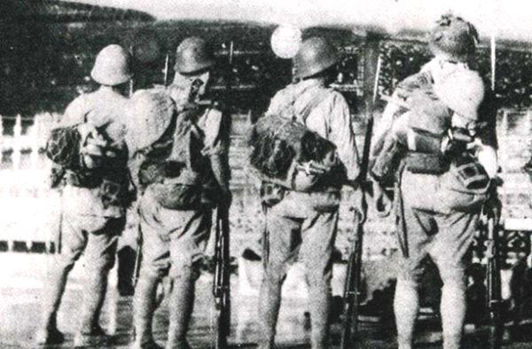 Сожжённый японский солдат