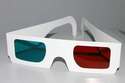 анаглифические очки для 3D-кино