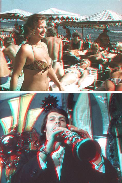 Анаглифические кадры документального стереофильма «Здравствуй, Сочи!» (1977)