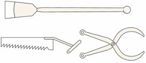 набор инструментов для сбора льда