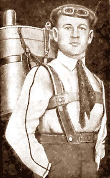 Г. Е. Котельников со своим РК-1. 1912 г.