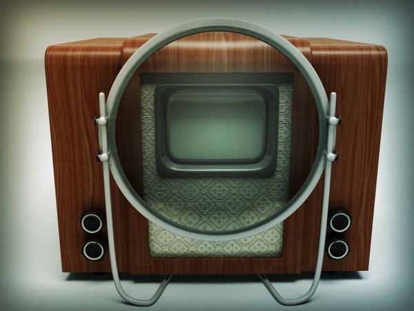 Советский электронный телевизор КВН-49