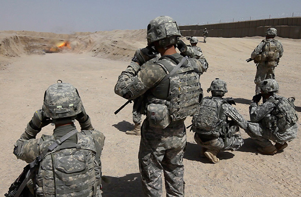 Солдаты армии США на Ближнем Востоке