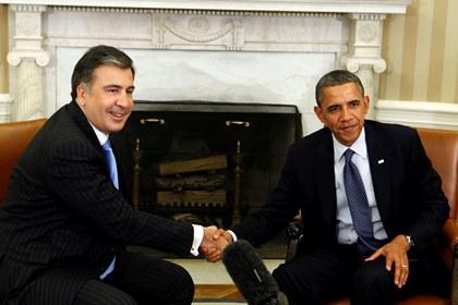 Саакашвили и Обама