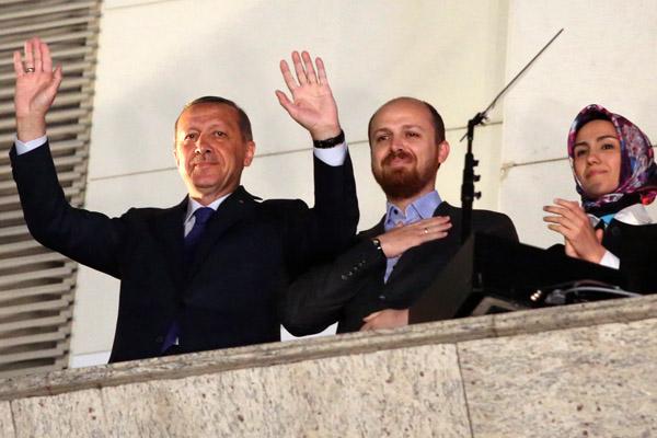 Реджеп Тайип Эрдоган и его сын Билал