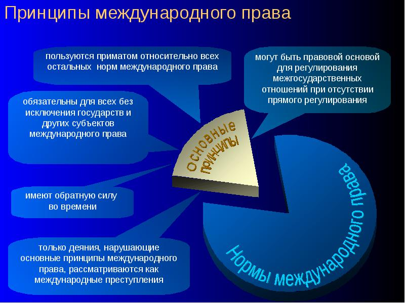 принципы международного права