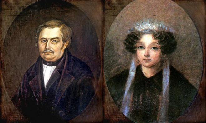 Василий Афанасьевич Гоголь-Яновский и Мария Ивановна Косяровская