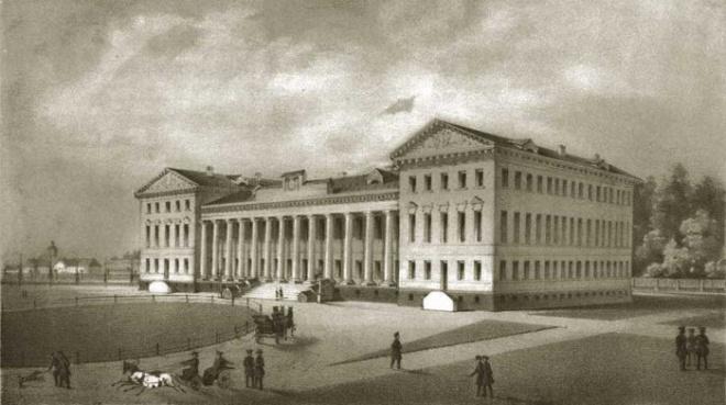 Нежинский лицей князя Александра Безбородко, в котором учился Н.В. Гоголь