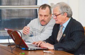 Авторы книги «Страна тысячи озер» Алексадр Белоусов и Юрий Ефремов