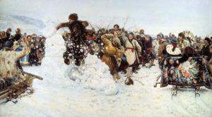 Василий Иванович Суриков «Взятие снежного городка», 1891 г.