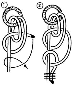 Рыбацкий штык Якорный узел