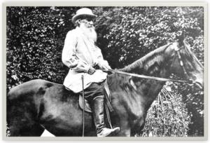 Лев Толстой на любимом коне Делире