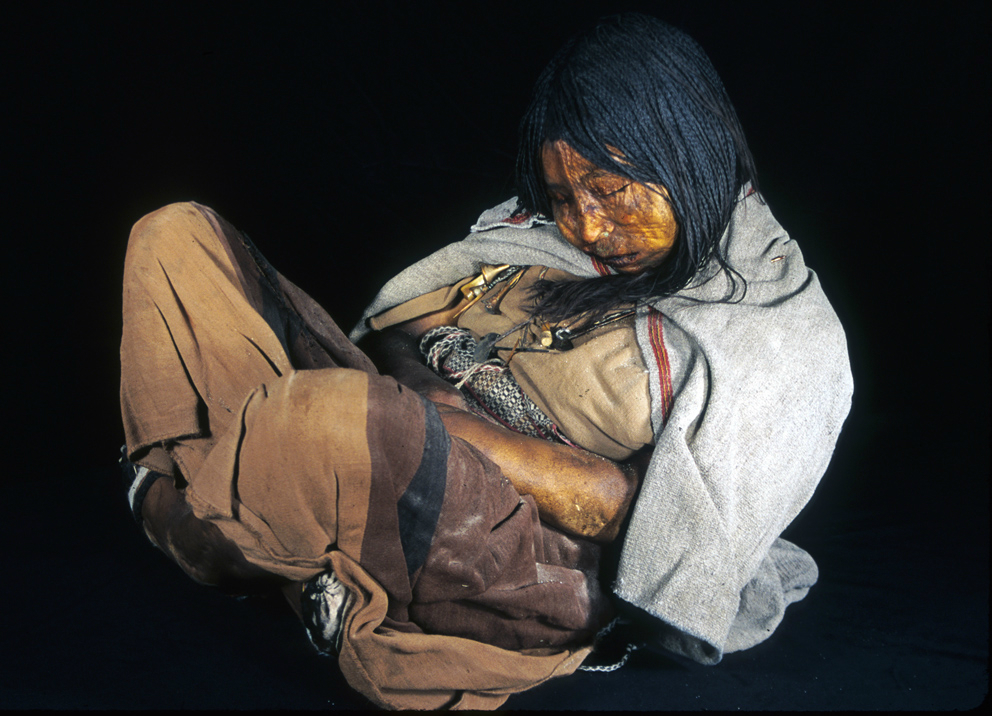 коренные американцы - мумия девушки