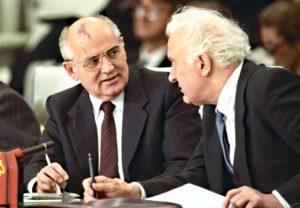 М. Горбачев и Э. Шеварднадзе