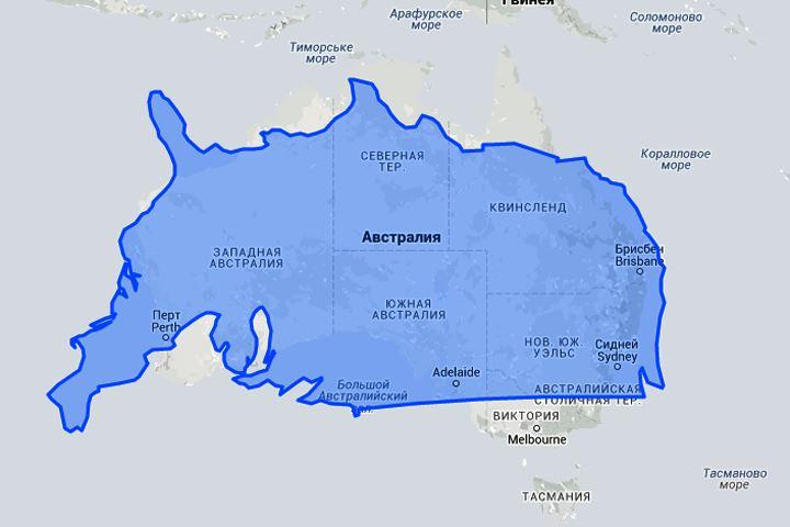 Настоящие размеры стран-2