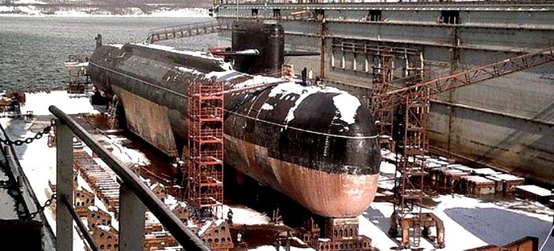 """атомная подводная лодка проекта 667 """"Оренбург""""."""
