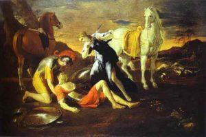 Н. Пуссен. Танкред и Эрминия. 1630-е