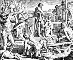 Поколение Каина. гравюра 19 века.