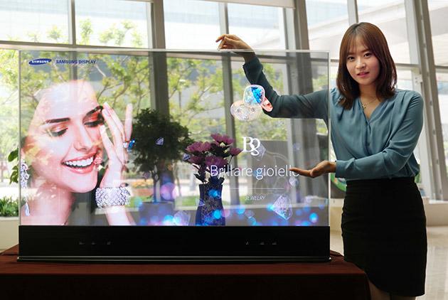 Прозрачные и зеркальные OLED-дисплеи