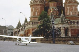 Самолет Матиаса Руста на Красной площади, 1987 год.