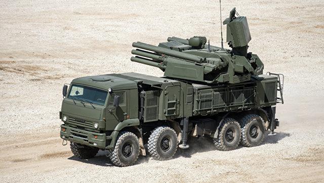 Самоходный ЗРК наземного базирования «Панцирь-С».