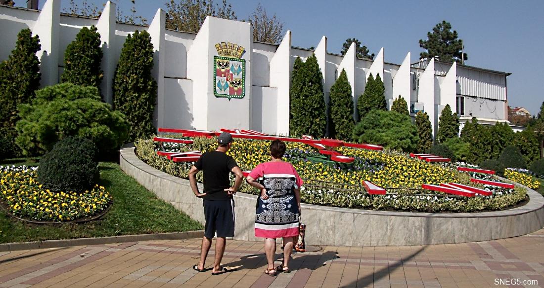 Цветочные часы в Краснодаре 8