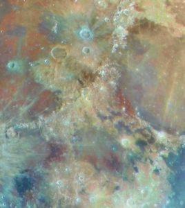Луна - минеральная карта