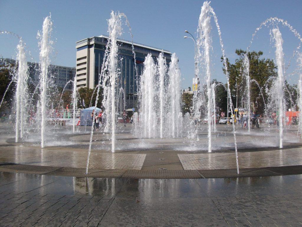 фонтан на Театральной площади. Краснодар