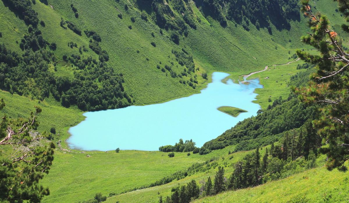 Озеро Ачипса - Кавказский биосферный заповедник