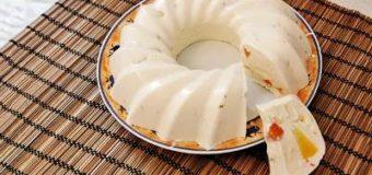 Очень простой творожный десерт с ананасом